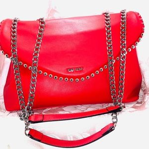 ❤️SALE❤️ Nine West Red Leather Bag (Booties sz 12)